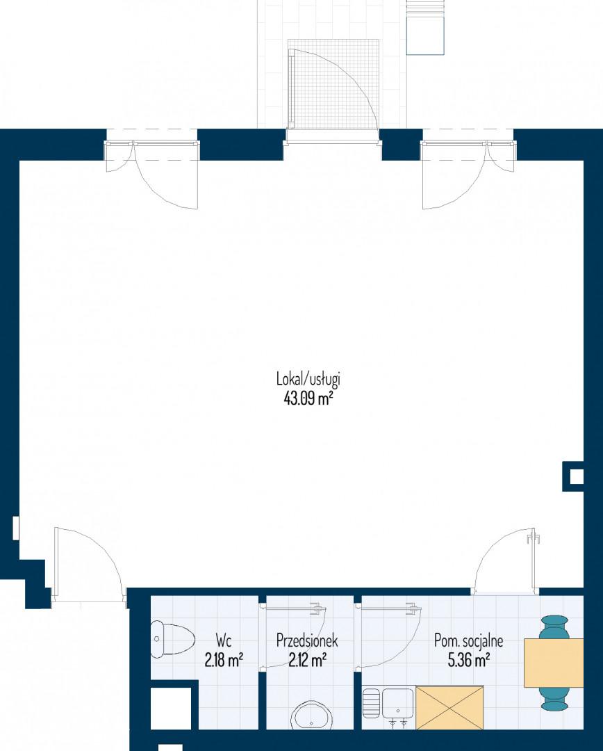 Zdrowe Stylove / budynek 1 / mieszkanie nr U1 rzut 1