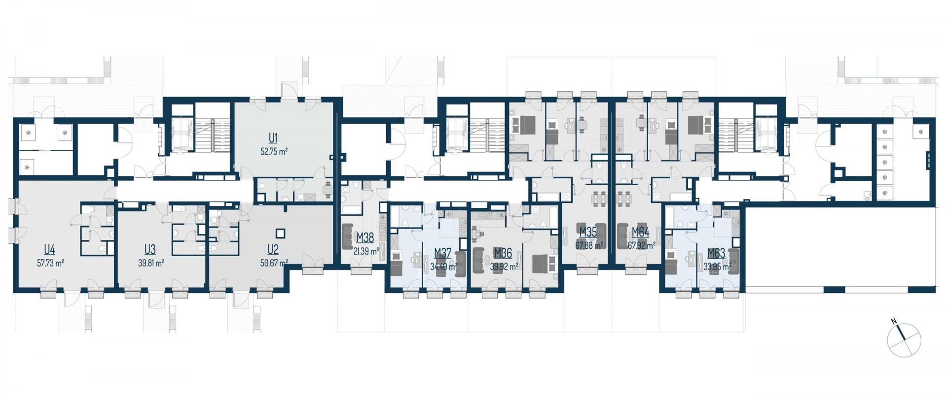 Zdrowe Stylove / budynek 1 / mieszkanie nr U1 rzut 2