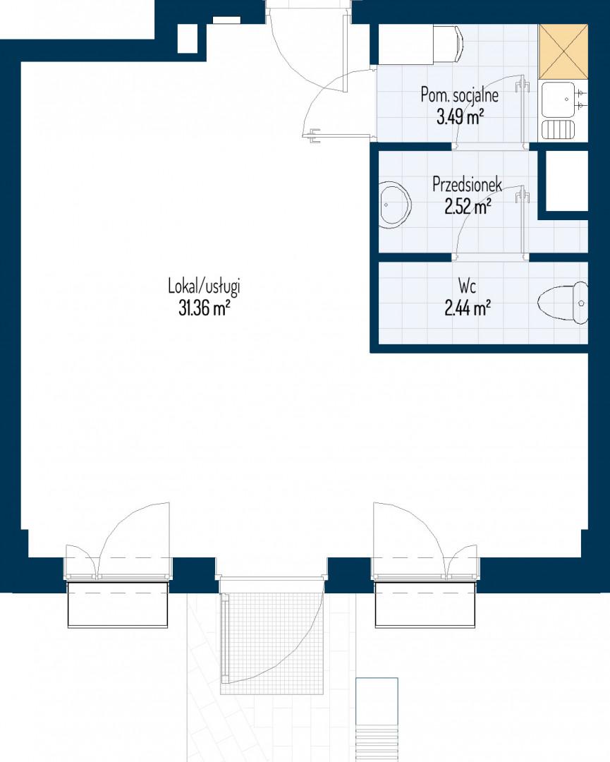 Zdrowe Stylove / budynek 1 / mieszkanie nr U3 rzut 1