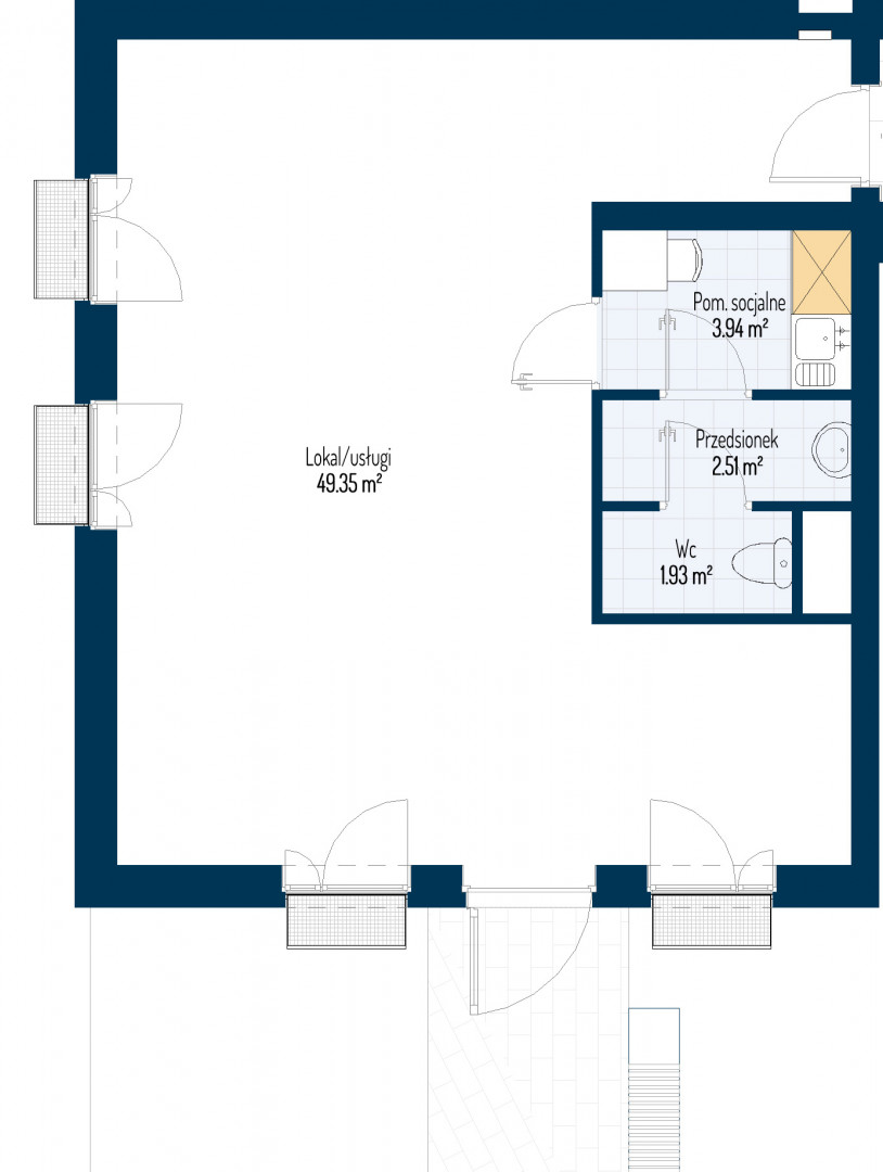 Zdrowe Stylove / budynek 1 / mieszkanie nr U4 rzut 1