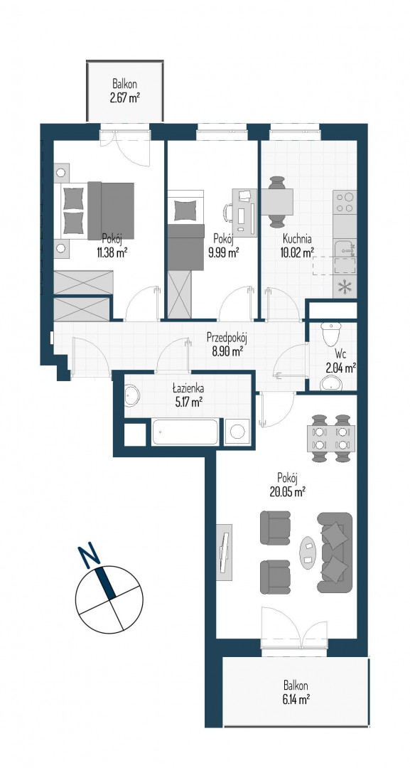 Zdrowe Stylove / budynek 1 / mieszkanie nr M10 rzut 1