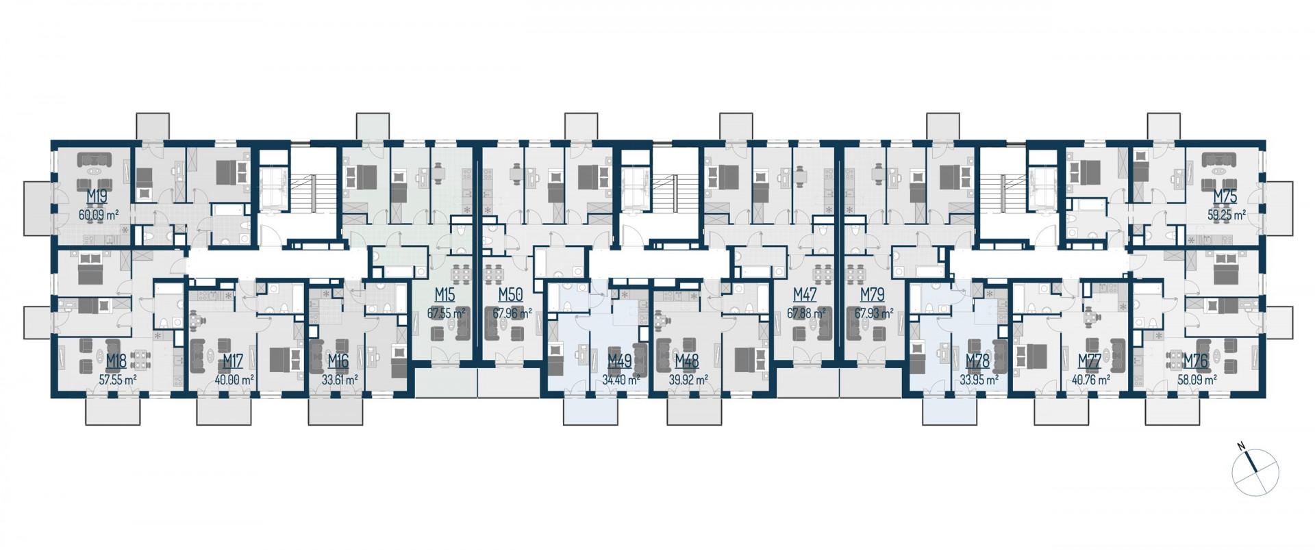 Zdrowe Stylove / budynek 1 / mieszkanie nr M19 rzut 2