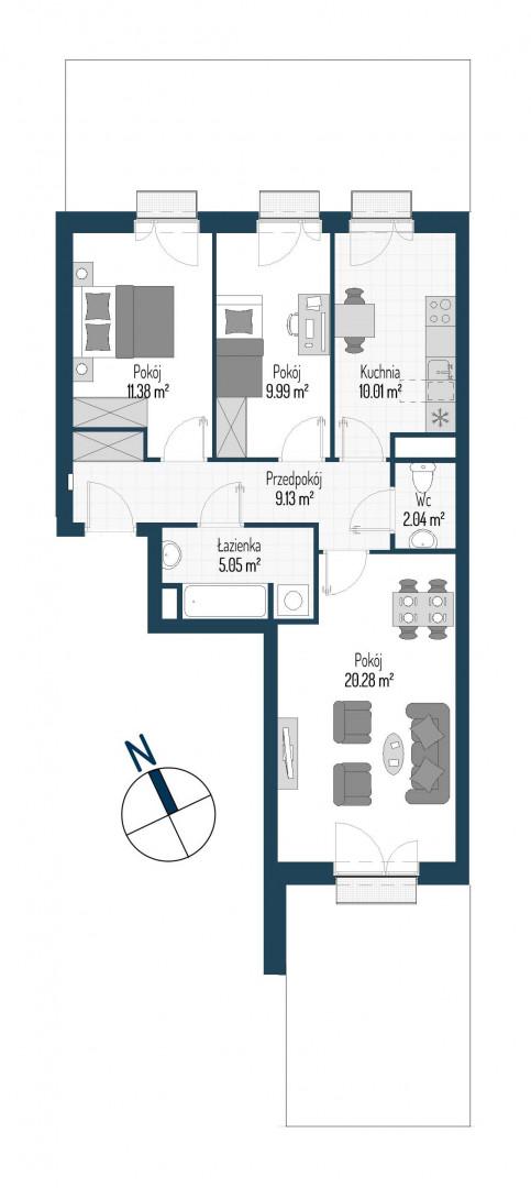 Zdrowe Stylove / budynek 1 / mieszkanie nr M35 rzut 1
