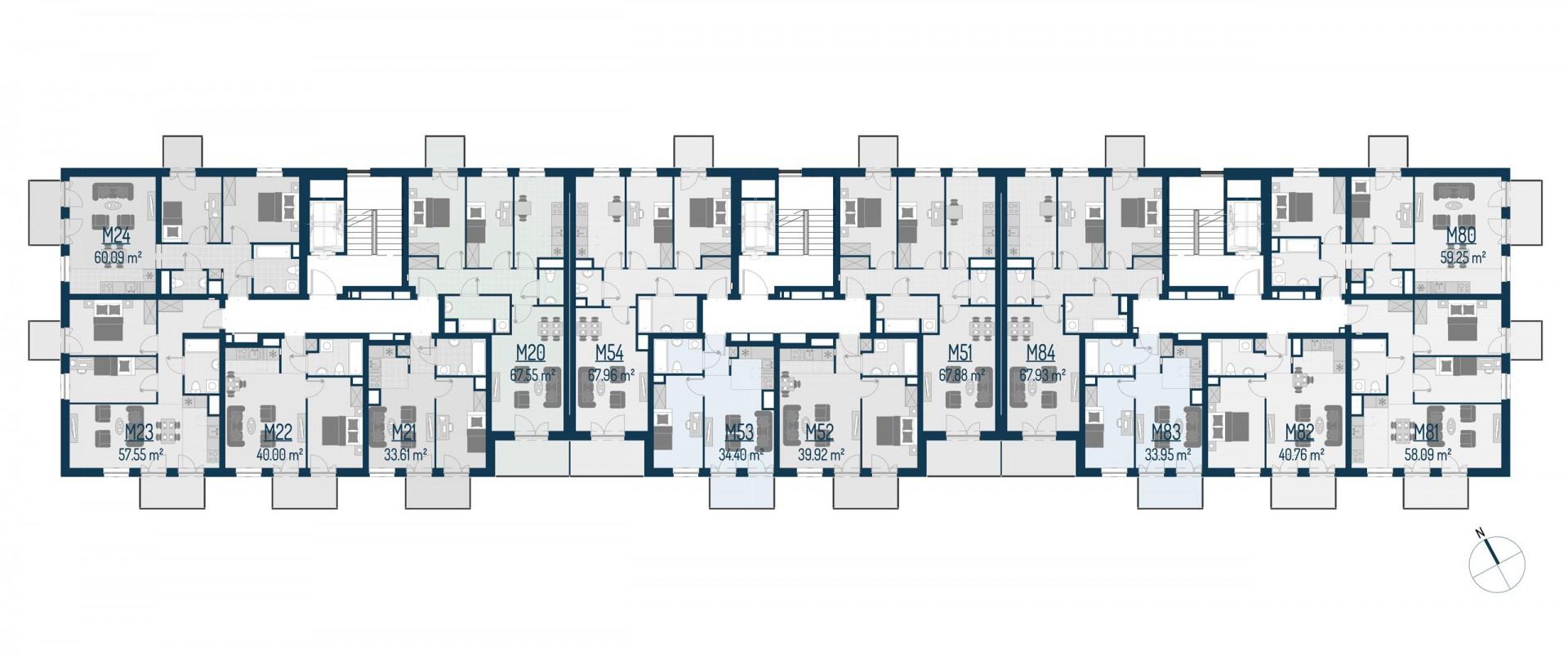 Zdrowe Stylove / budynek 1 / mieszkanie nr M51 rzut 2