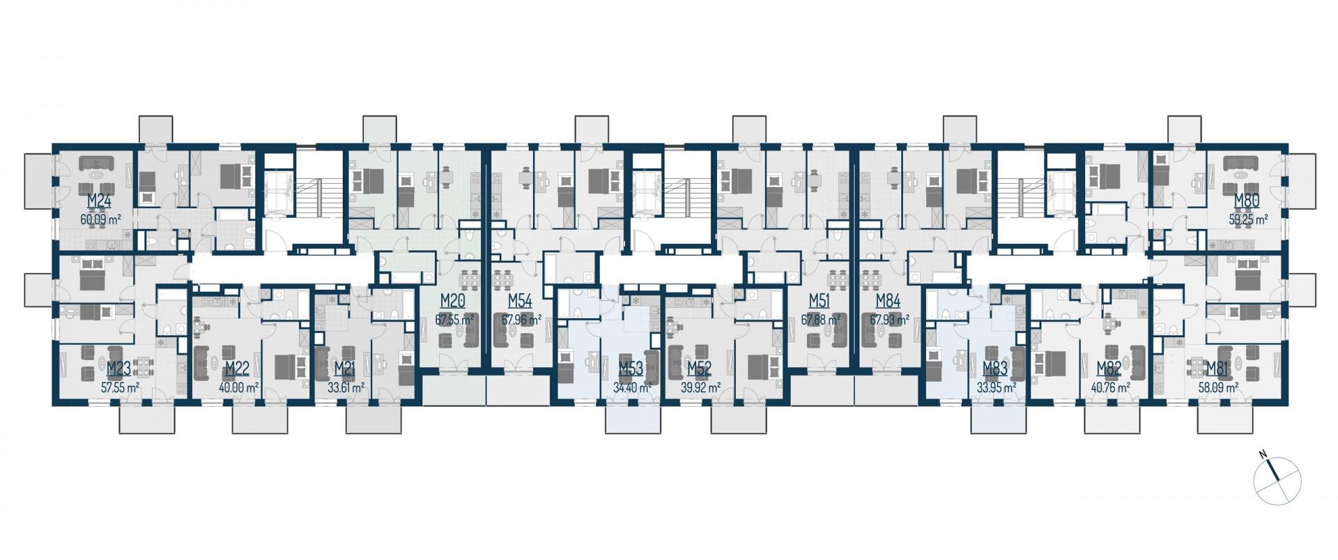 Zdrowe Stylove / budynek 1 / mieszkanie nr M54 rzut 2