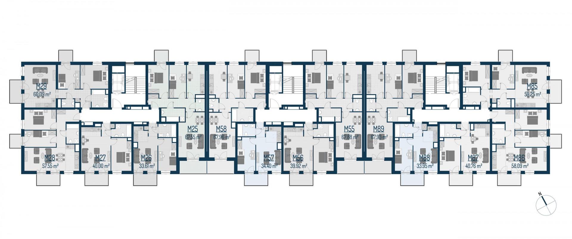 Zdrowe Stylove / budynek 1 / mieszkanie nr M55 rzut 2