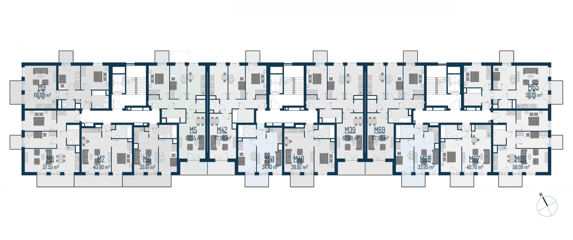 Zdrowe Stylove / budynek 1 / mieszkanie nr M66 rzut 2