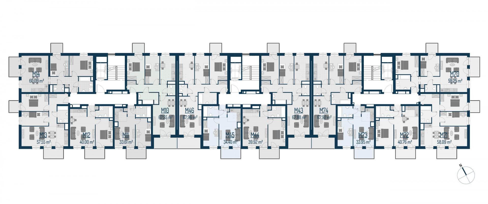 Zdrowe Stylove / budynek 1 / mieszkanie nr M74 rzut 2