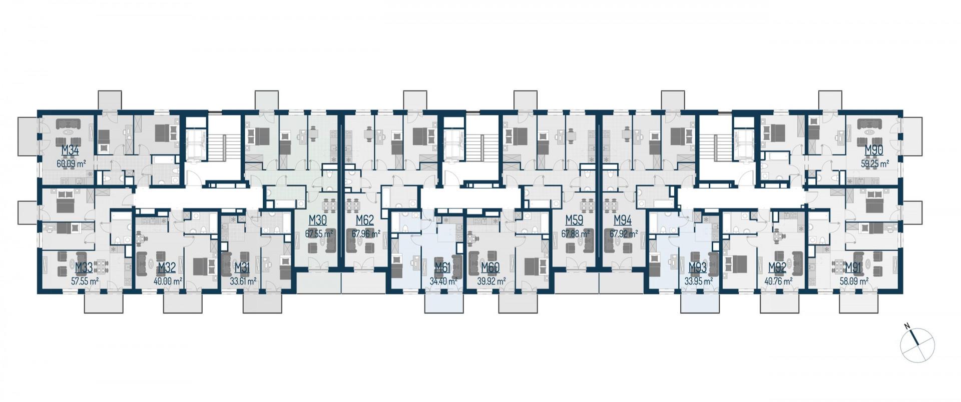 Zdrowe Stylove / budynek 1 / mieszkanie nr M90 rzut 2