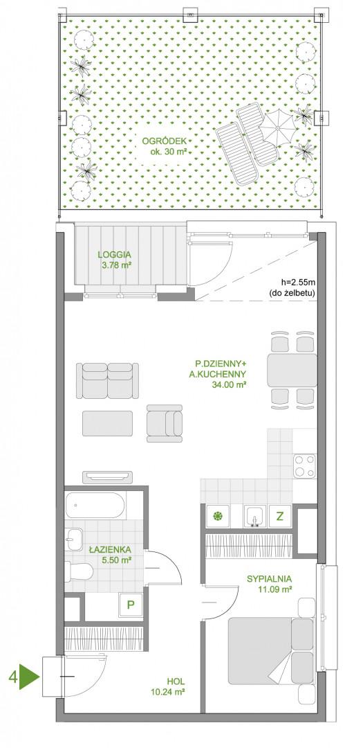Mazowiecka 72 / apartament nr 4 rzut 1