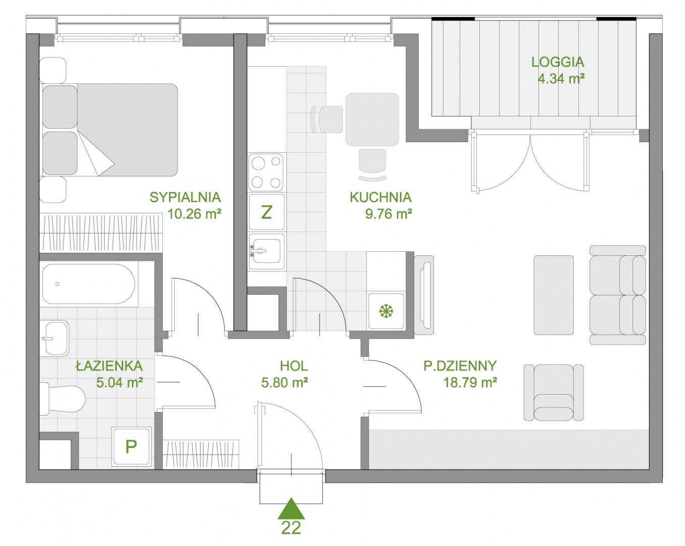 Mazowiecka 72 / apartament nr 22 rzut 1