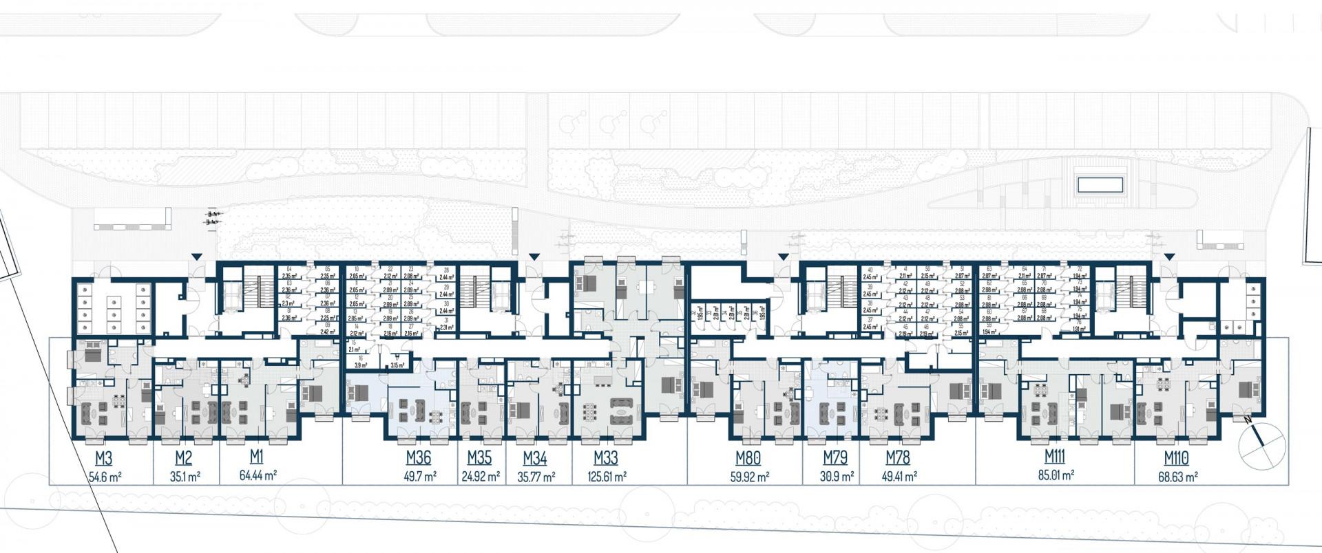 Zdrowe Stylove / budynek 2 / mieszkanie nr 3 rzut 2