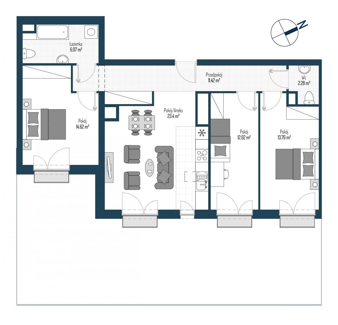 Zdrowe Stylove / budynek 2 / mieszkanie nr 111 rzut 1