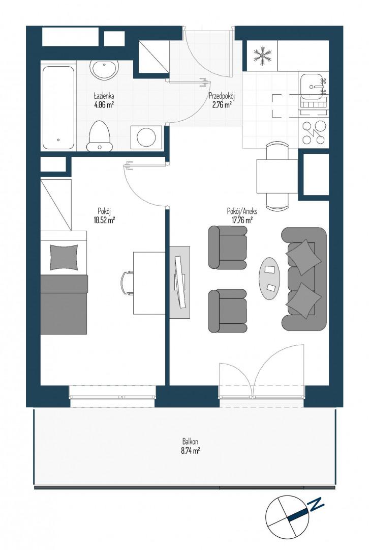 Zdrowe Stylove / budynek 2 / mieszkanie nr 5 rzut 1