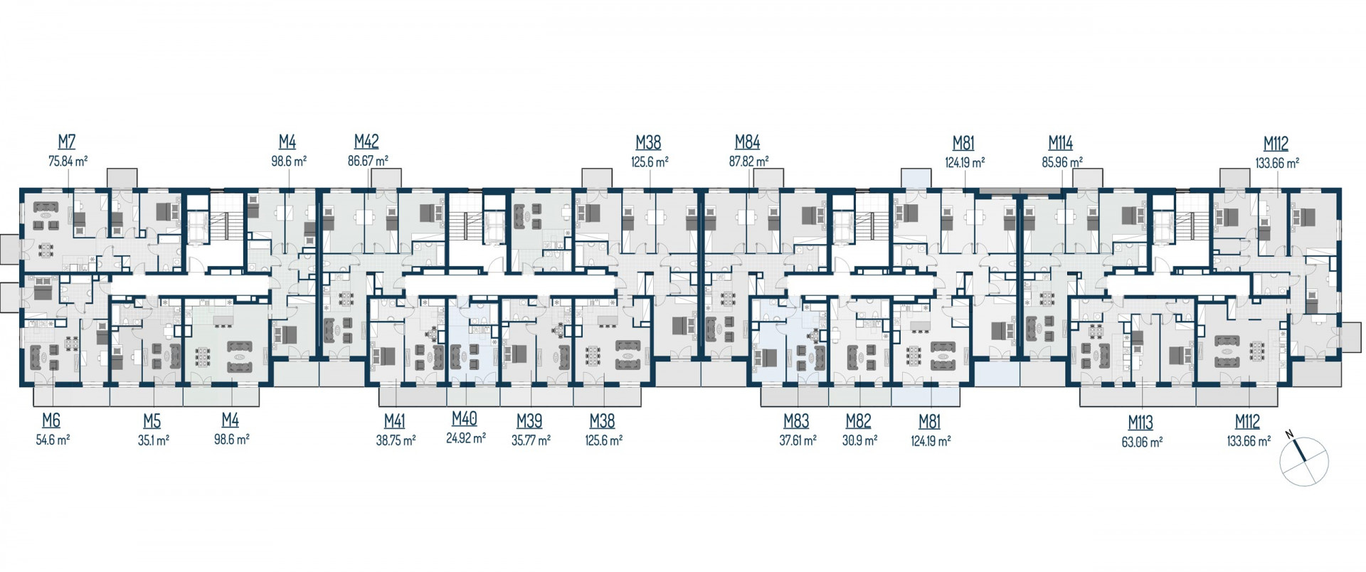 Zdrowe Stylove / budynek 2 / mieszkanie nr 6 rzut 2