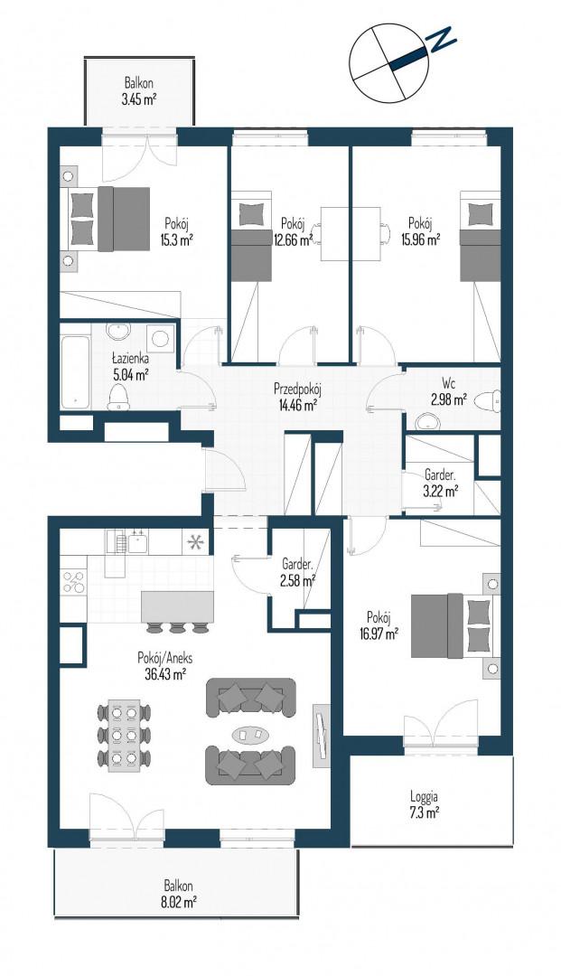 Zdrowe Stylove / budynek 2 / mieszkanie nr 38 rzut 1