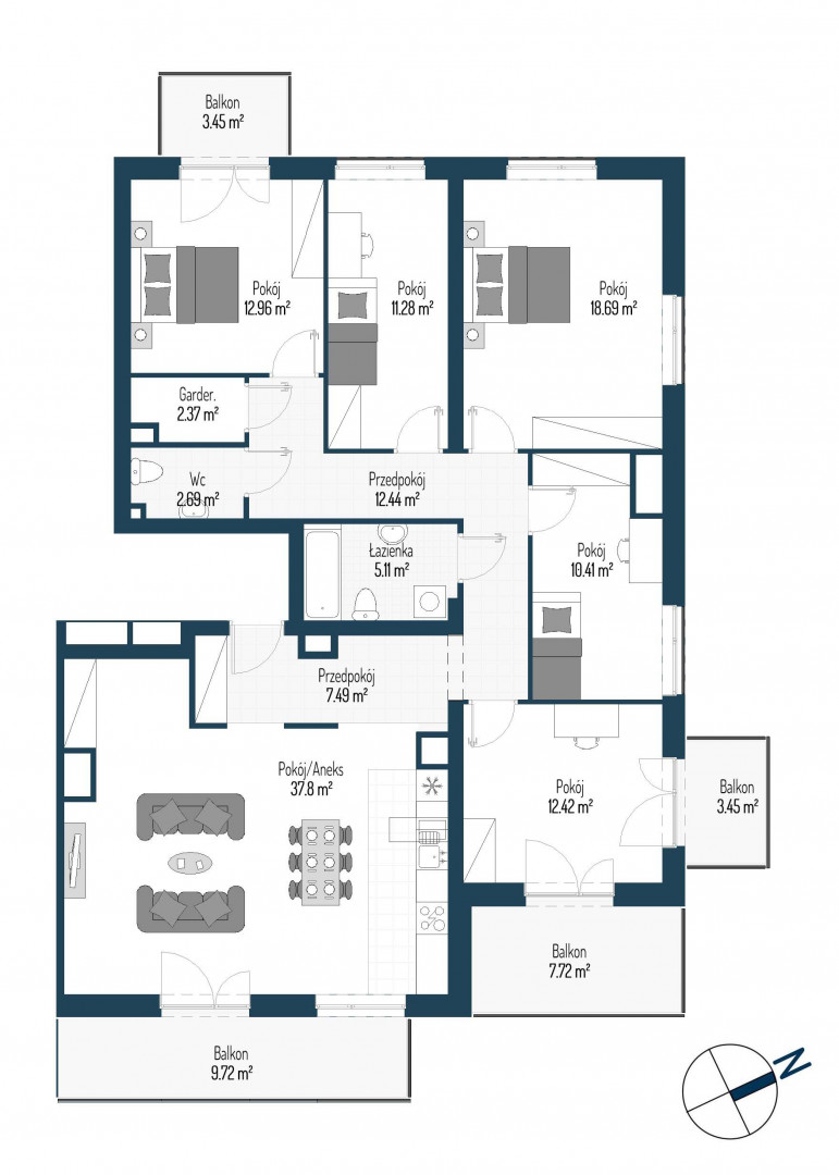 Zdrowe Stylove / budynek 2 / mieszkanie nr 112 rzut 1