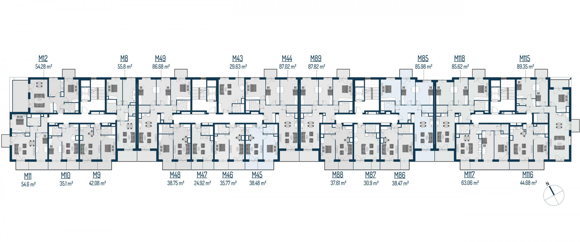 Zdrowe Stylove / budynek 2 / mieszkanie nr 44 rzut 2