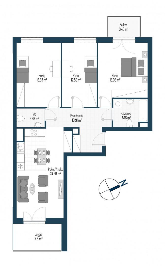 Zdrowe Stylove / budynek 2 / mieszkanie nr 89 rzut 1