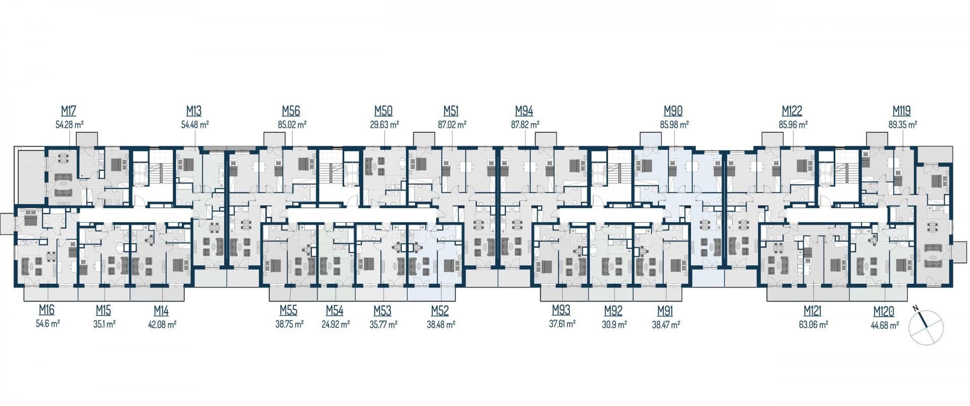 Zdrowe Stylove / budynek 2 / mieszkanie nr 17 rzut 2