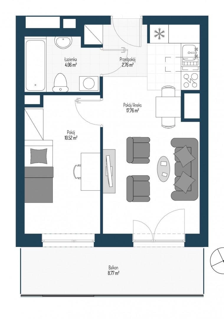 Zdrowe Stylove / budynek 2 / mieszkanie nr 20 rzut 1