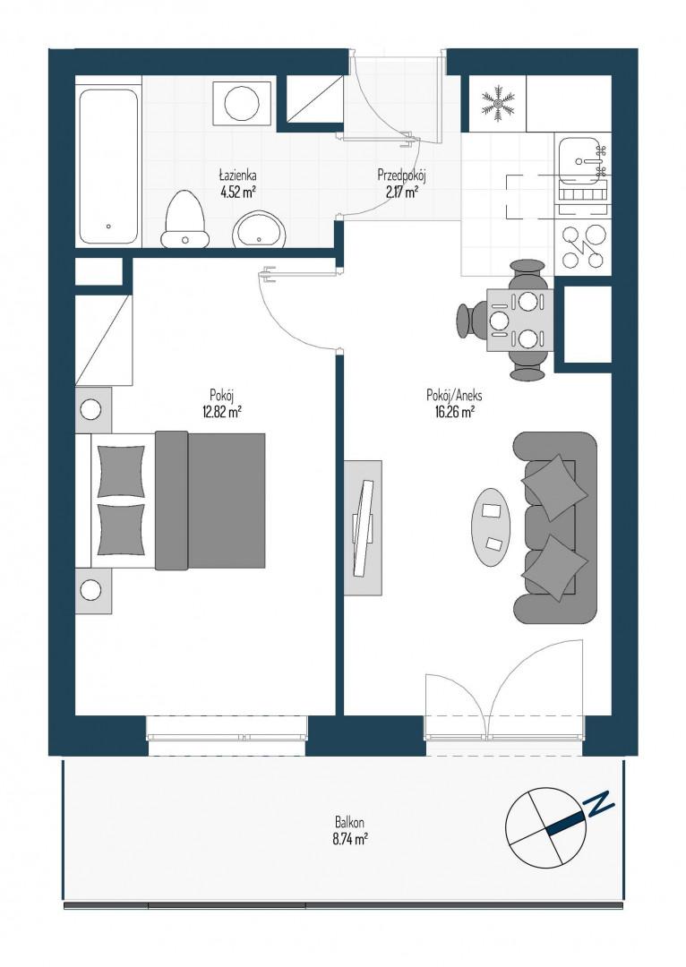 Zdrowe Stylove / budynek 2 / mieszkanie nr 60 rzut 1