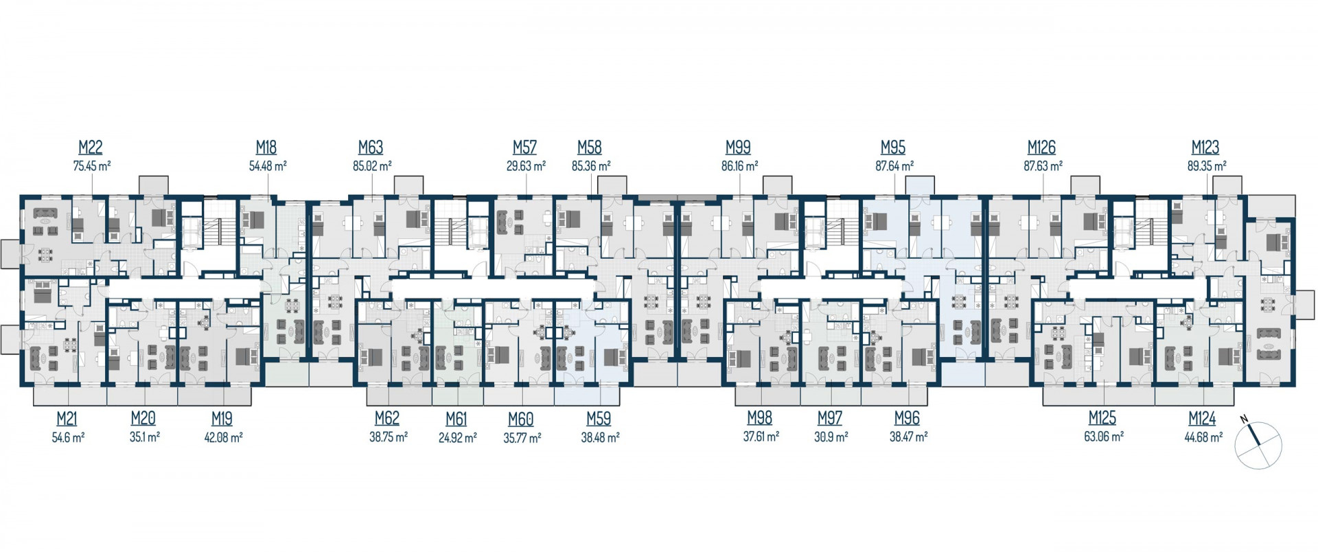 Zdrowe Stylove / budynek 2 / mieszkanie nr 62 rzut 2