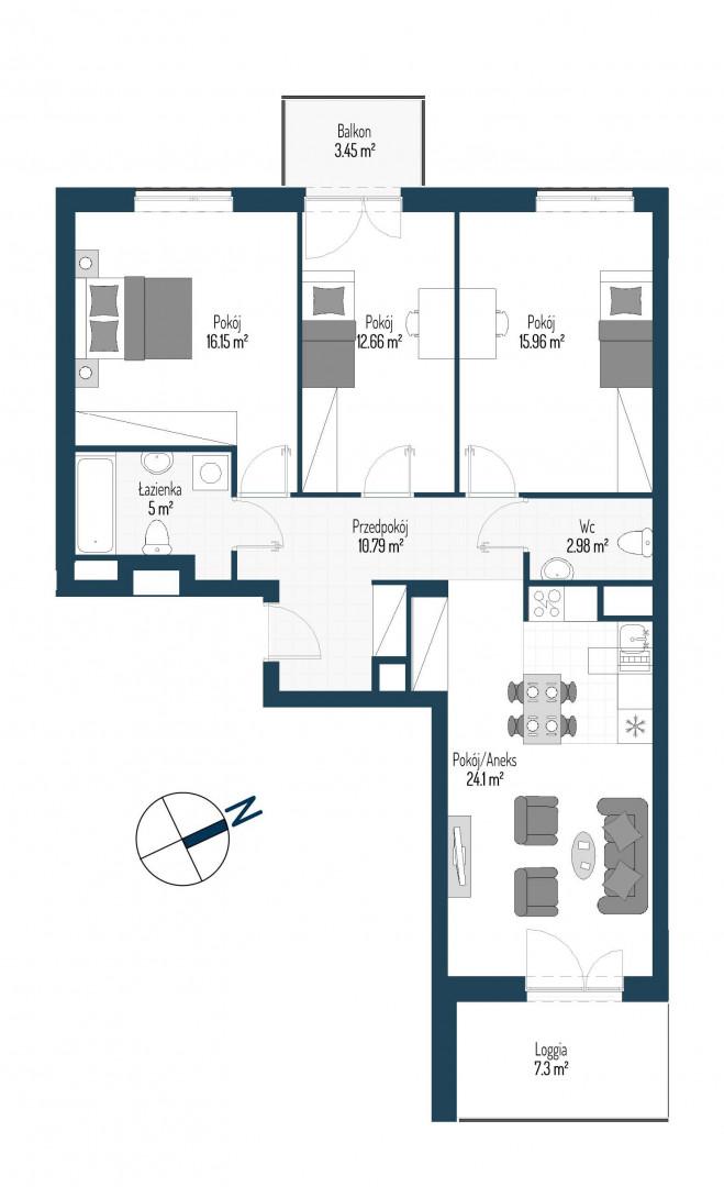 Zdrowe Stylove / budynek 2 / mieszkanie nr 95 rzut 1