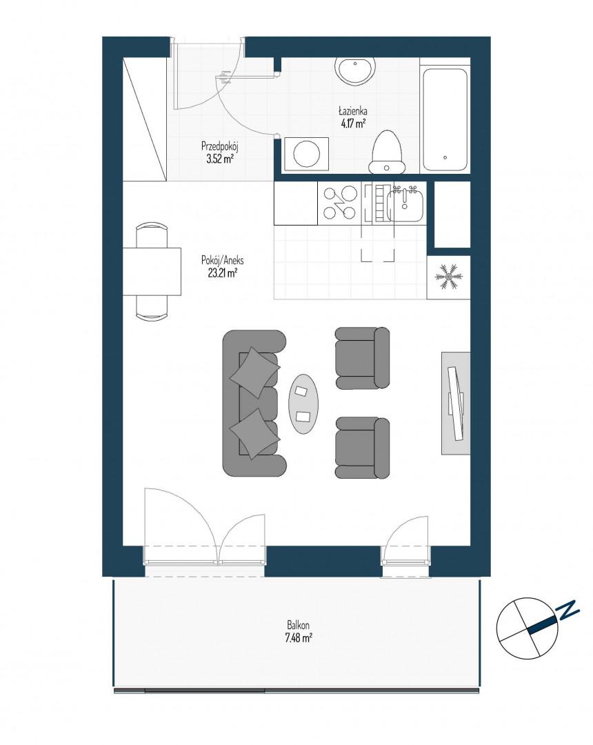 Zdrowe Stylove / budynek 2 / mieszkanie nr 97 rzut 1