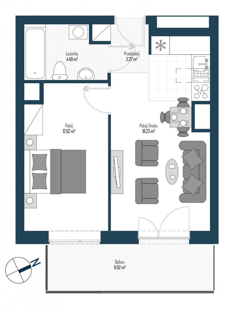 Zdrowe Stylove / budynek 2 / mieszkanie nr 98 rzut 1