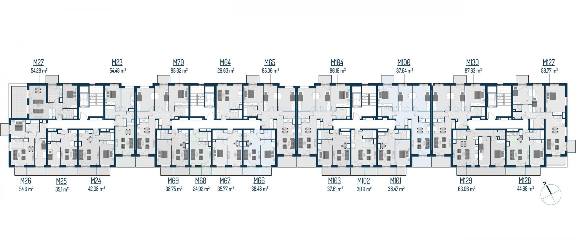 Zdrowe Stylove / budynek 2 / mieszkanie nr 23 rzut 2