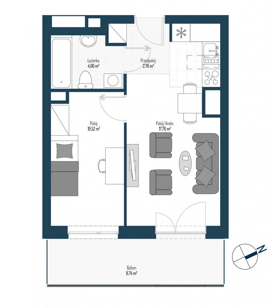Zdrowe Stylove / budynek 2 / mieszkanie nr 25 rzut 1