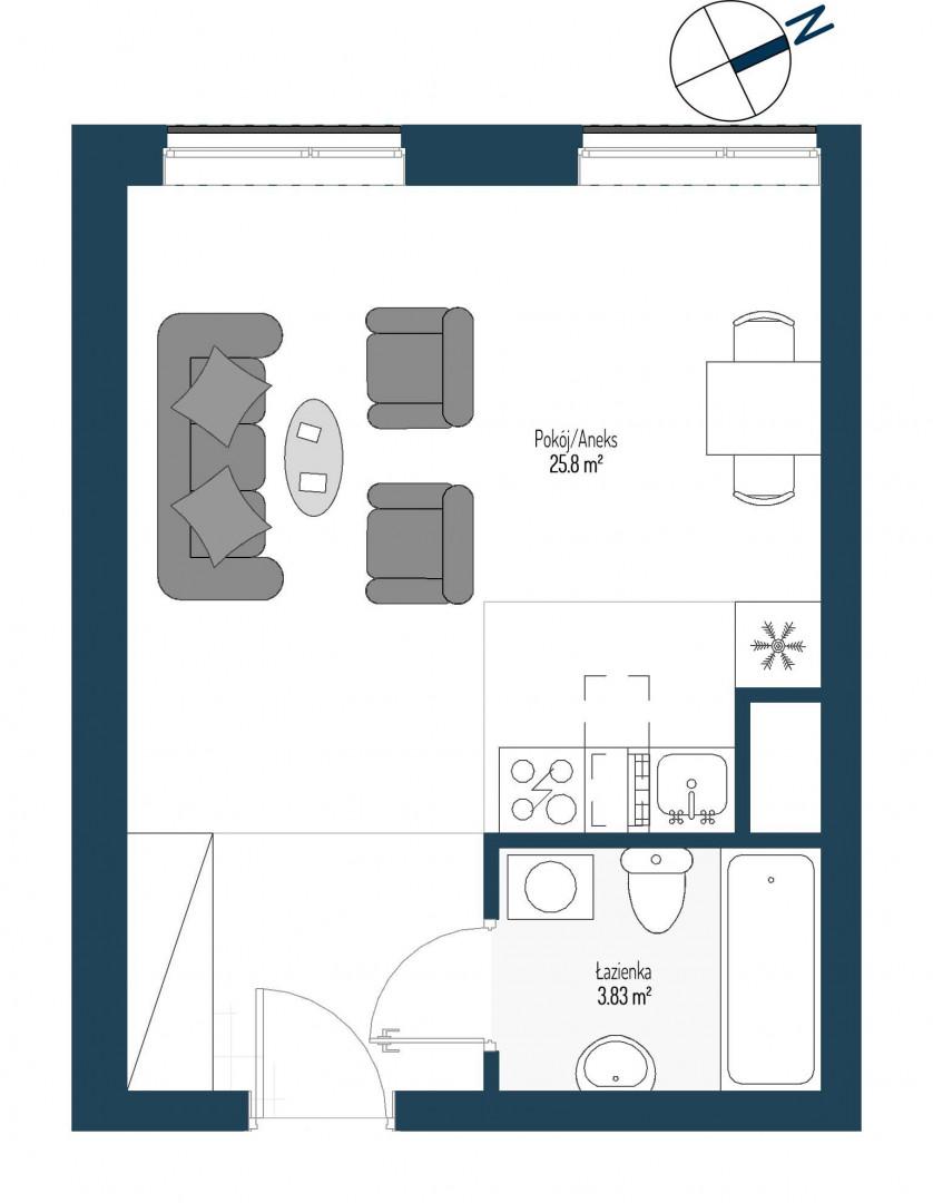 Zdrowe Stylove / budynek 2 / mieszkanie nr 64 rzut 1
