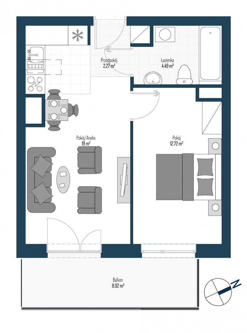 Zdrowe Stylove / budynek 2 / mieszkanie nr 66 rzut 1