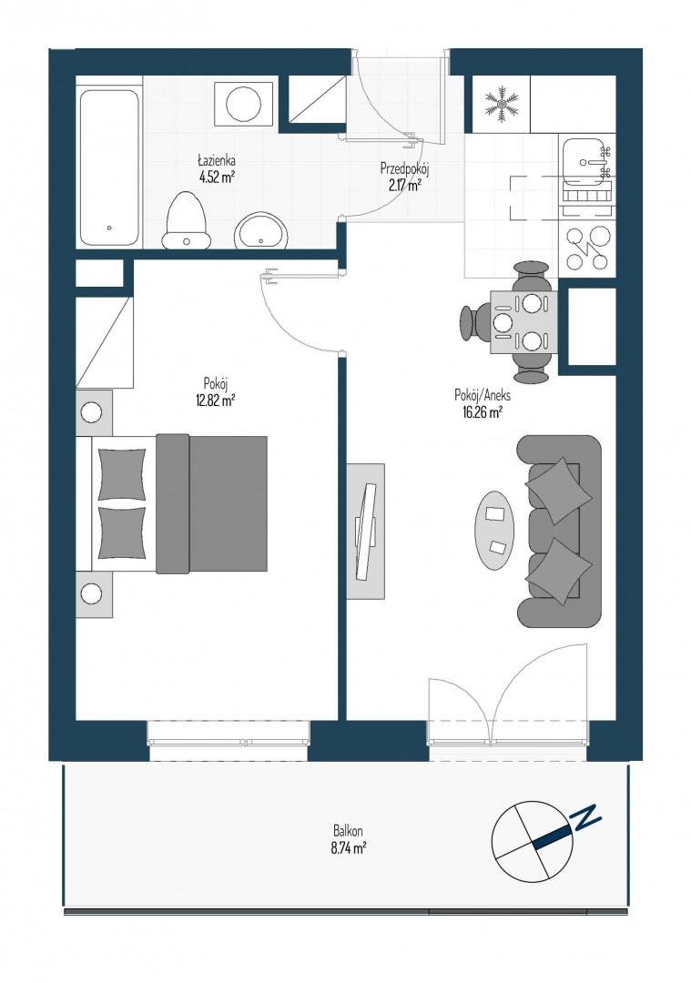 Zdrowe Stylove / budynek 2 / mieszkanie nr 67 rzut 1