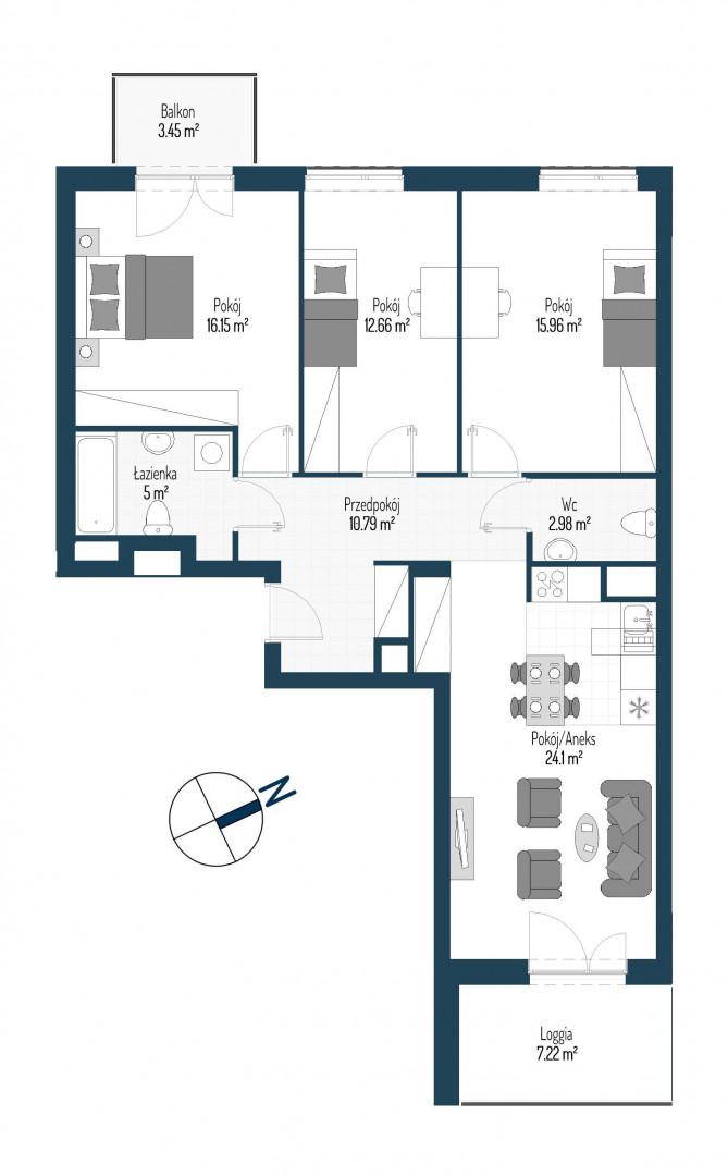 Zdrowe Stylove / budynek 2 / mieszkanie nr 100 rzut 1