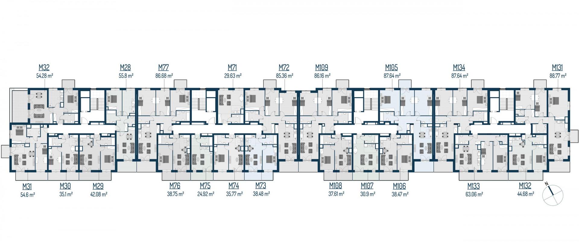 Zdrowe Stylove / budynek 2 / mieszkanie nr 28 rzut 2
