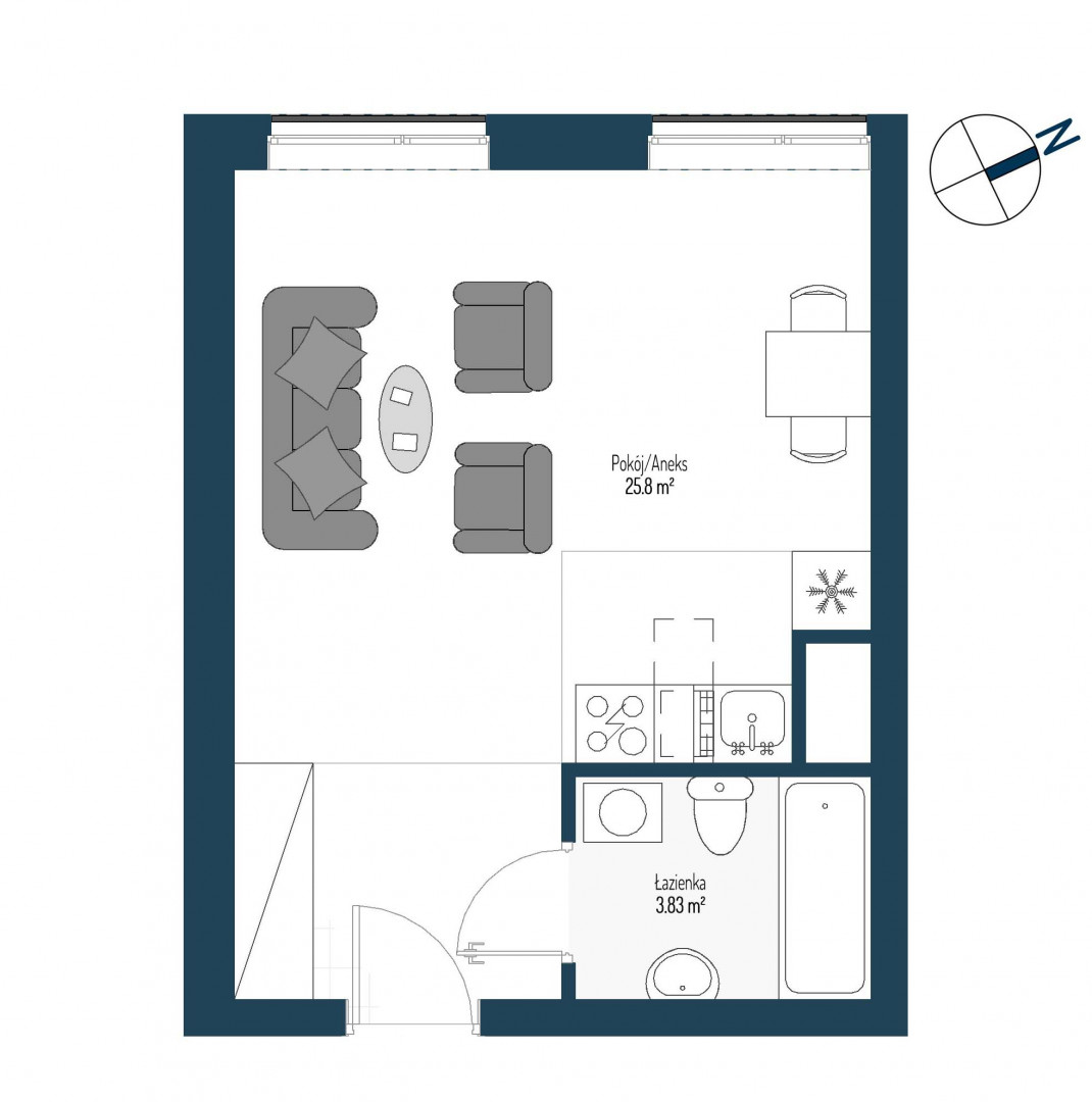 Zdrowe Stylove / budynek 2 / mieszkanie nr 71 rzut 1