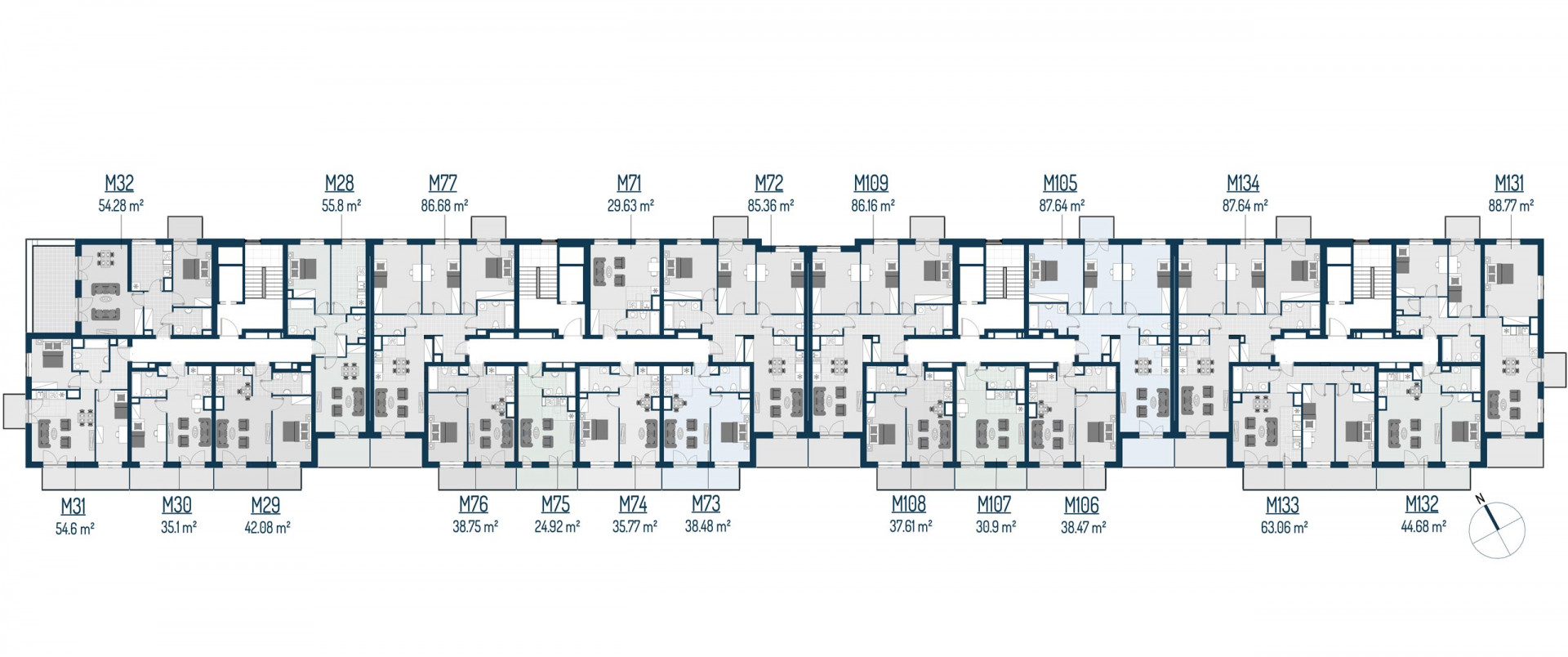 Zdrowe Stylove / budynek 2 / mieszkanie nr 108 rzut 2