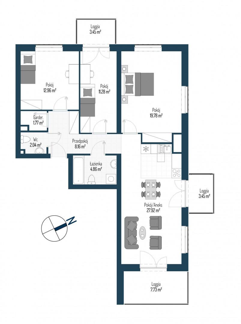 Zdrowe Stylove / budynek 2 / mieszkanie nr 131 rzut 1